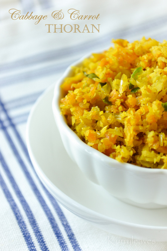 Carrot and Cabbage Thoran