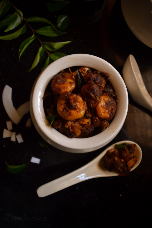 Kerala shrimp roast
