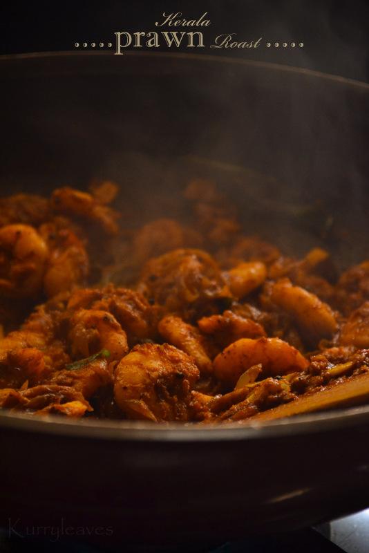 Kerala prawn roast