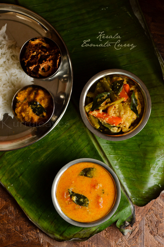 nadan thakkali curry with rice